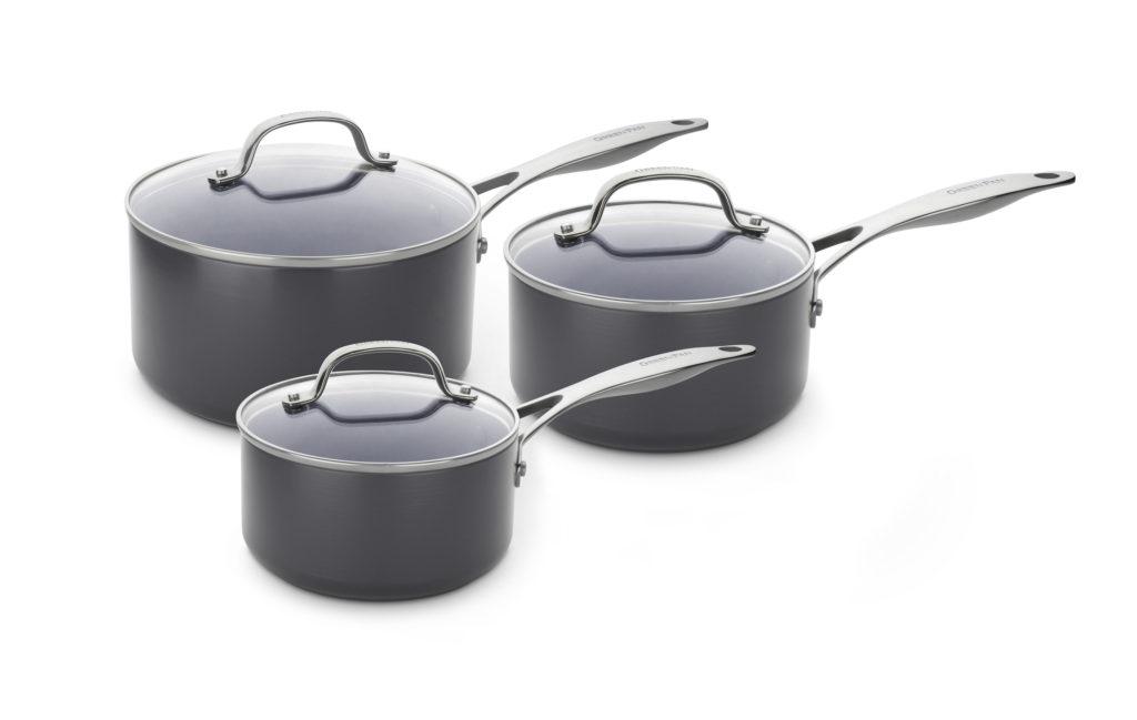 GREENPAN-Venice Pro 3 piece saucepan set